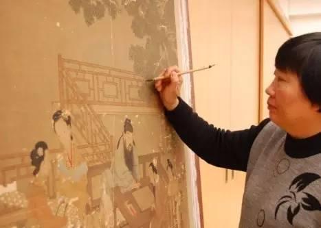 我在大英博物馆修古画