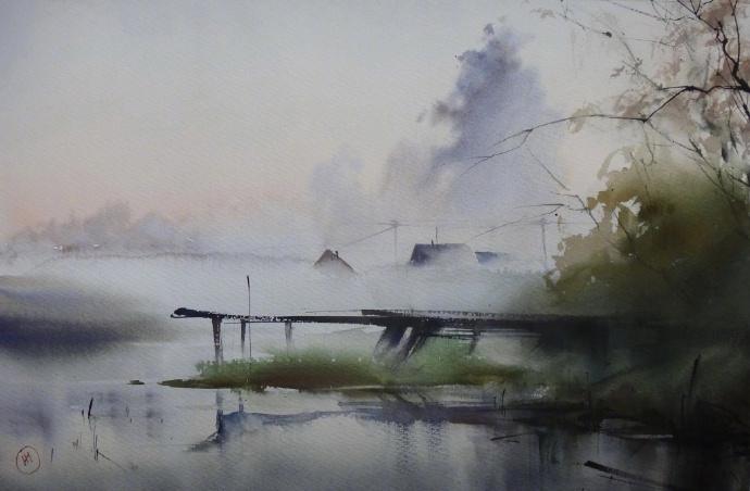 晨露与雾 早安全世界