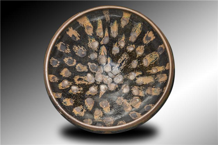 珍珠斑瓜皮纹钵型盏