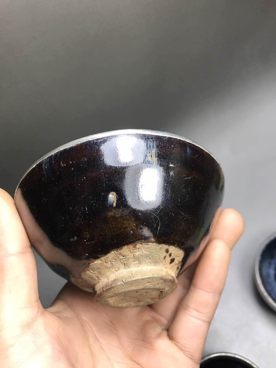 釉面一流的宋代乌金釉包口老盏
