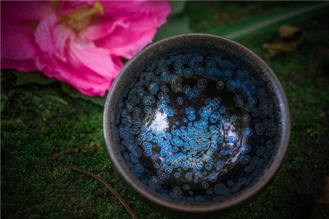 茶席上的精灵 建盏埋藏千年黑牡丹