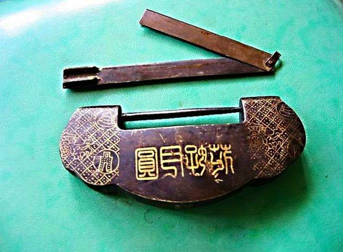 中国古代锁具欣赏,图6感觉像密码锁,如意锁花好月圆