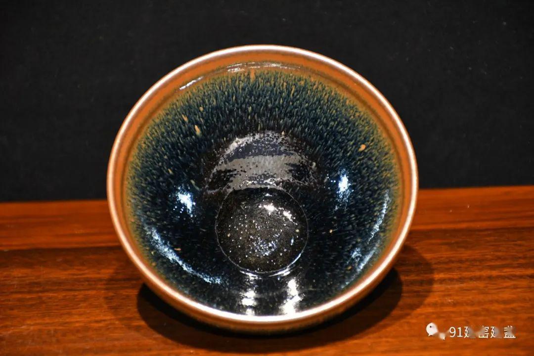 建盏与茶,完美搭配,惬意品茶!