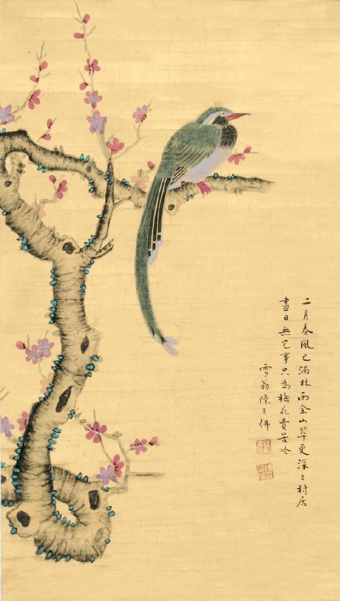 陈之佛初期作品多追求淡泊、宁静、雅洁清幽的情调