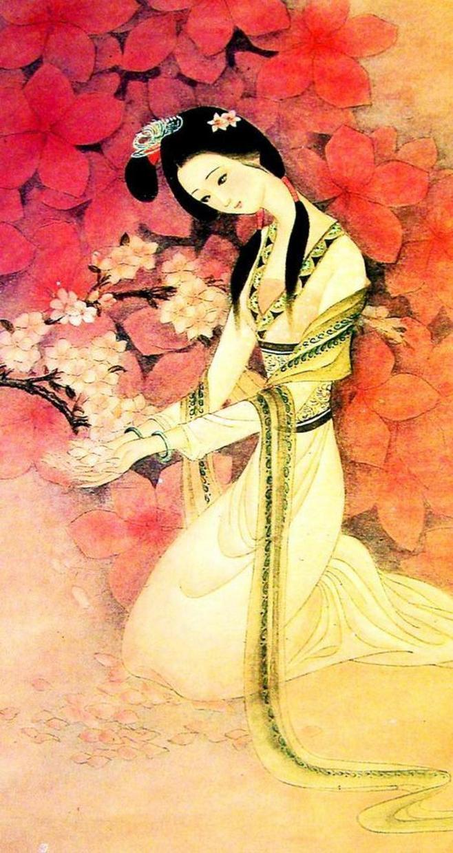 书画下的古代美女