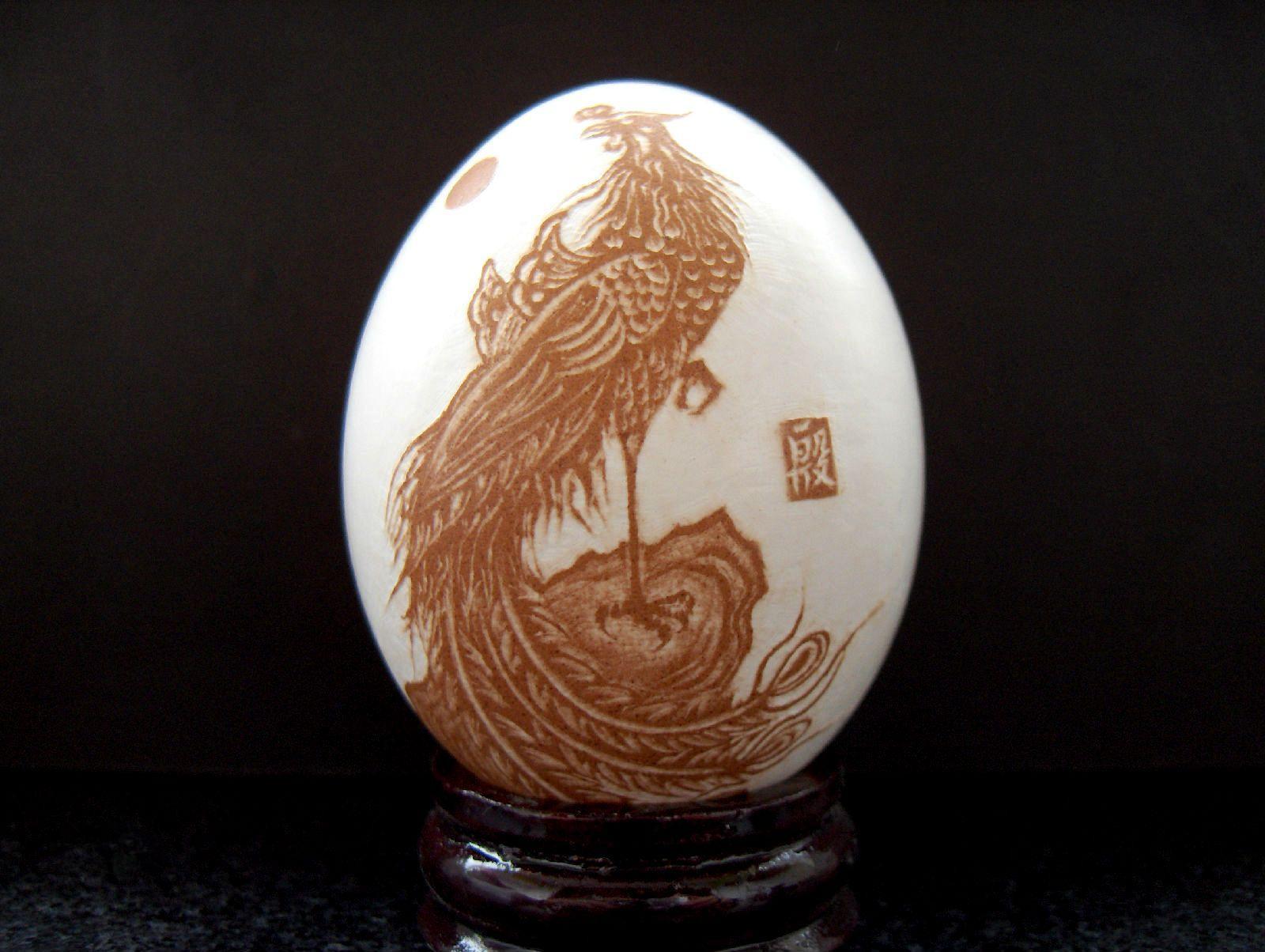 疯狂的鸡蛋 小小蛋壳能量大 大开眼界民间手工艺品