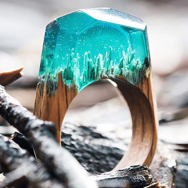 精妙绝伦树脂内部场景,想起小时候吃的钻石戒指糖