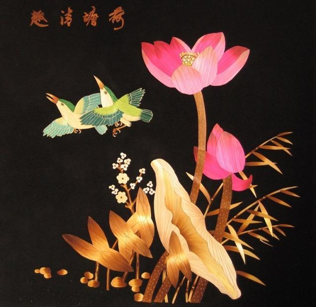 民间传统技艺精湛,麦秆画堪称一绝