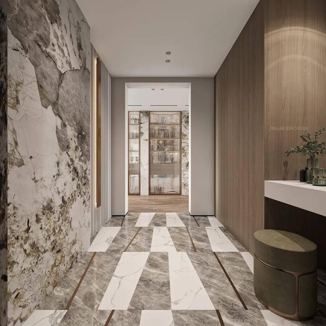 岩板应用到极简风格,让人惊讶的美!