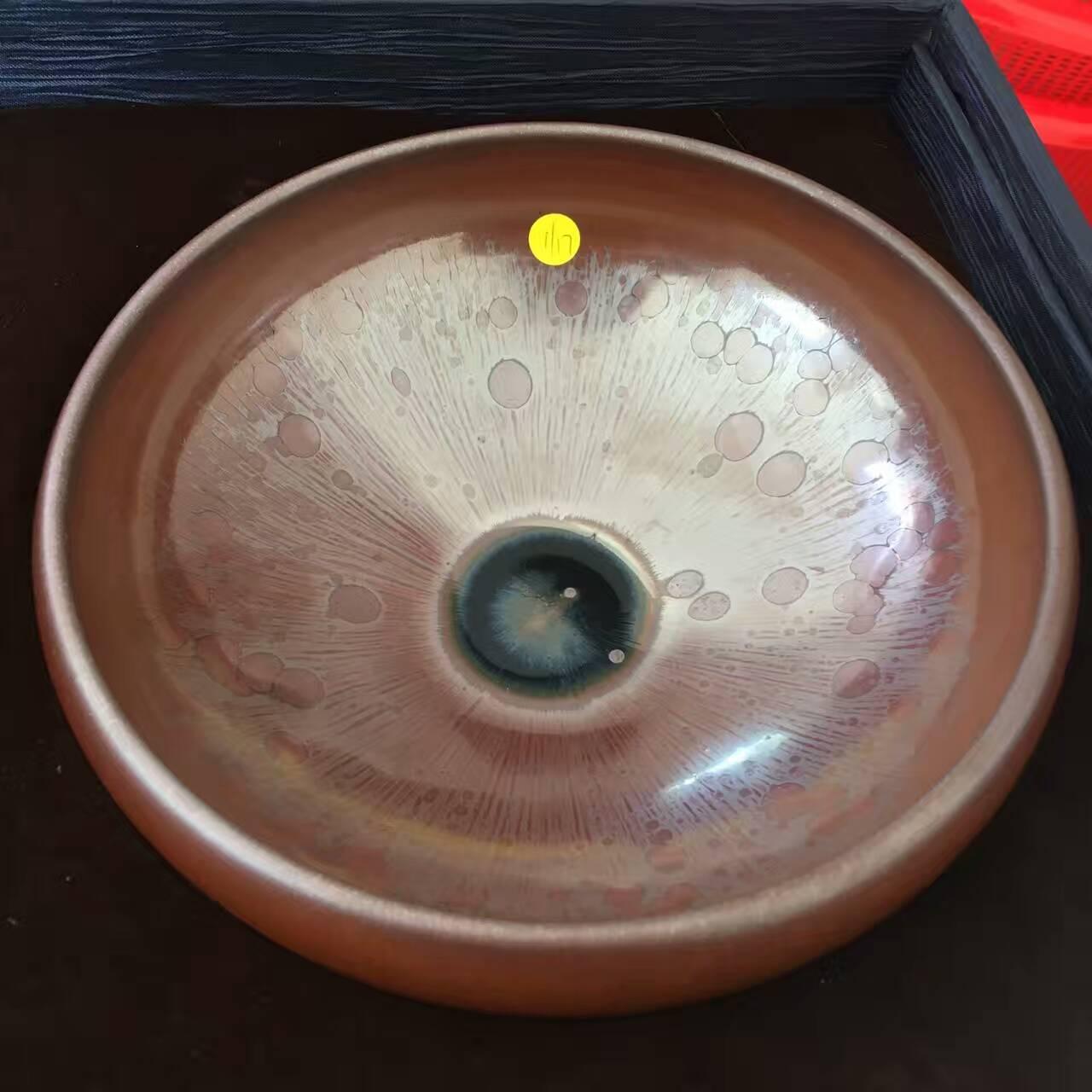 干泡法是极简主义的衍生品 曜变系柿红油干泡茶碗