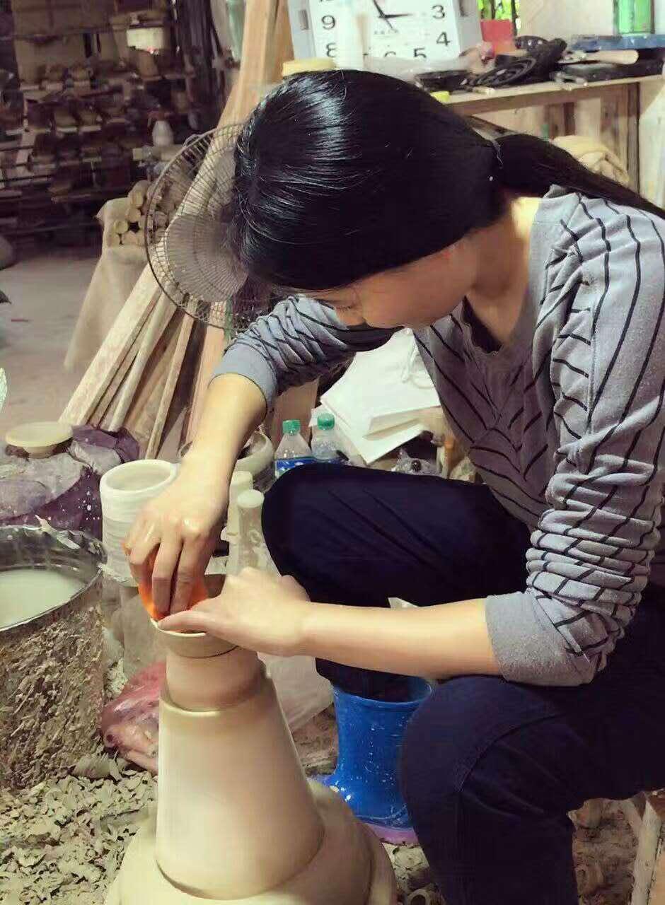 最美吉州窑匠人杨莉,真桑叶真吉州土釉真不易烧制