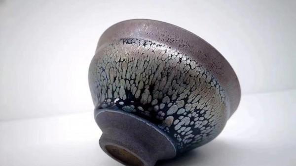 李昌海束口鹧鸪斑建盏 晶体立体感十足